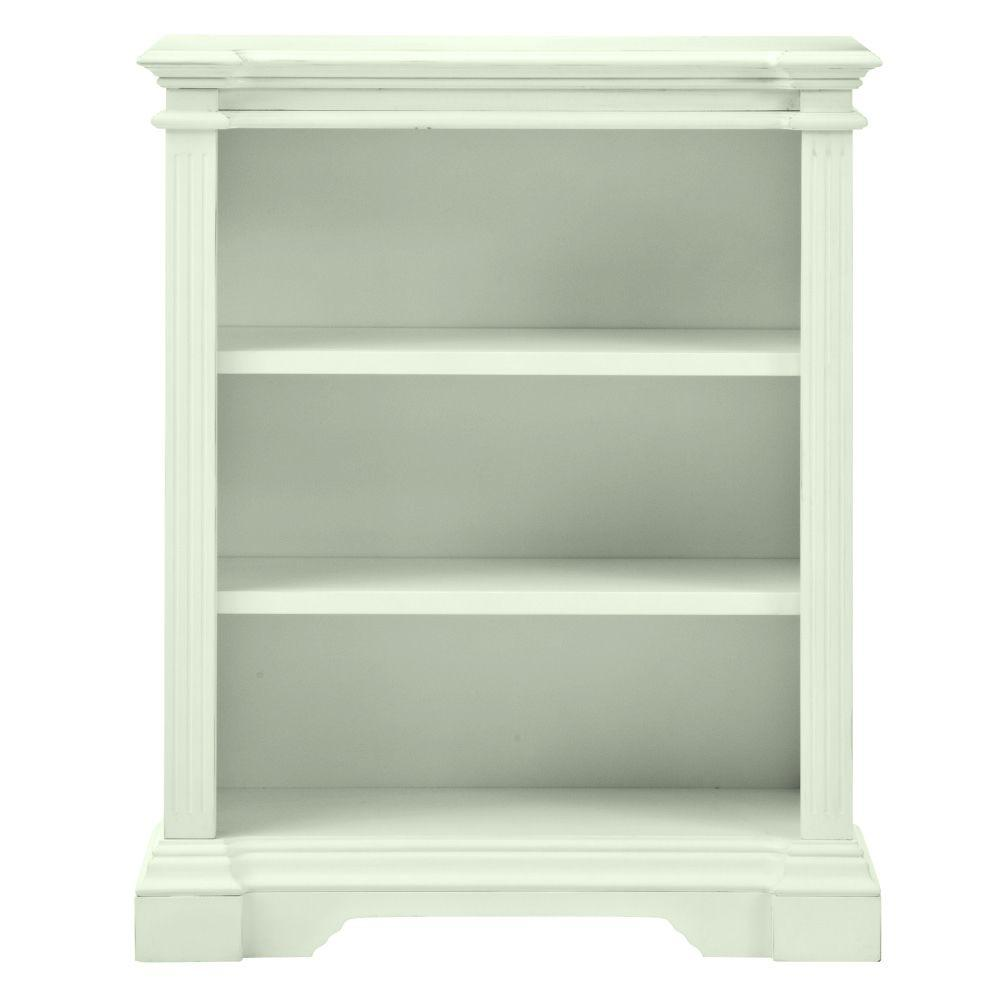 Home Decorators Collection Bufford Rubbed Ivory Open Bookcase