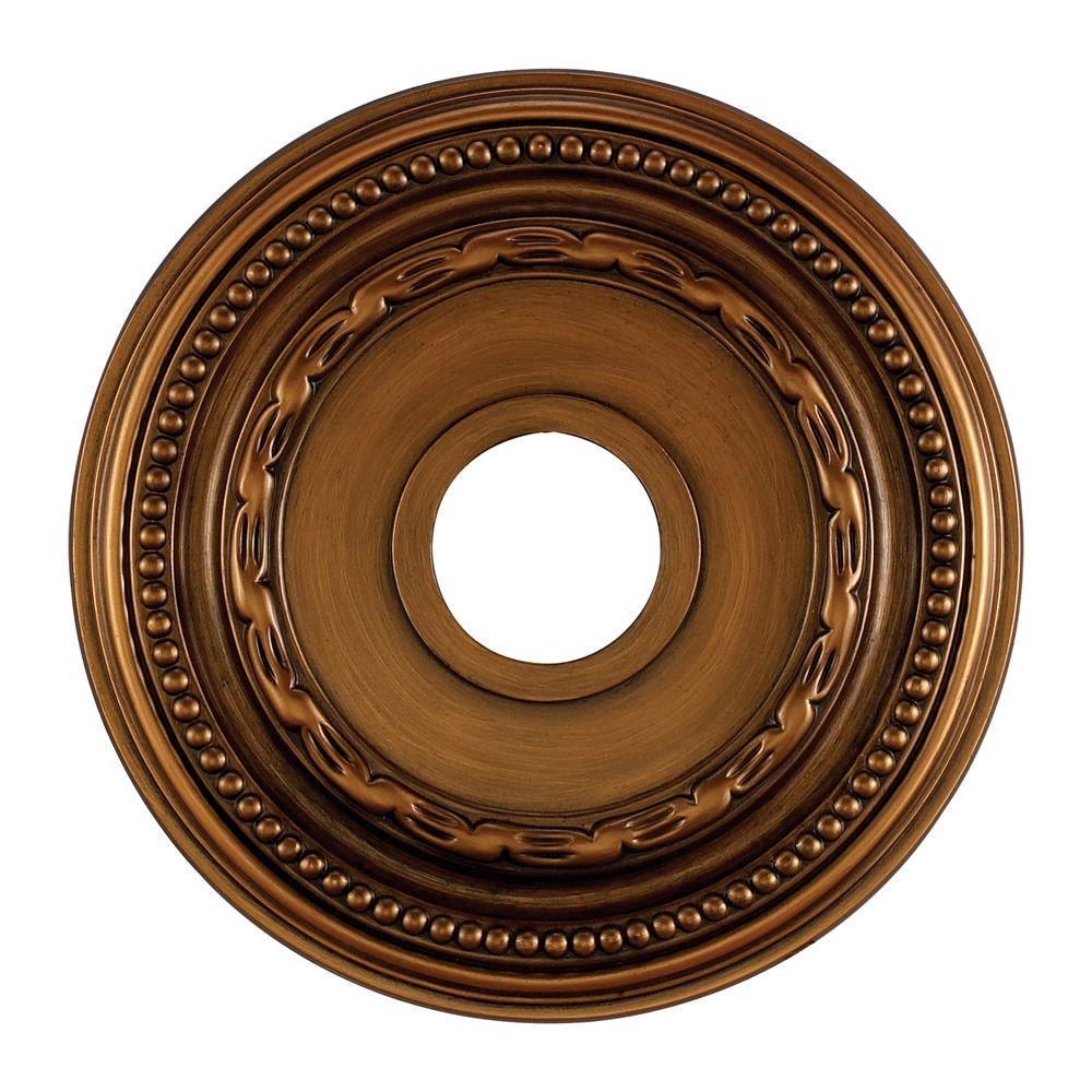 Nice Antique Bronze Ceiling Medallion