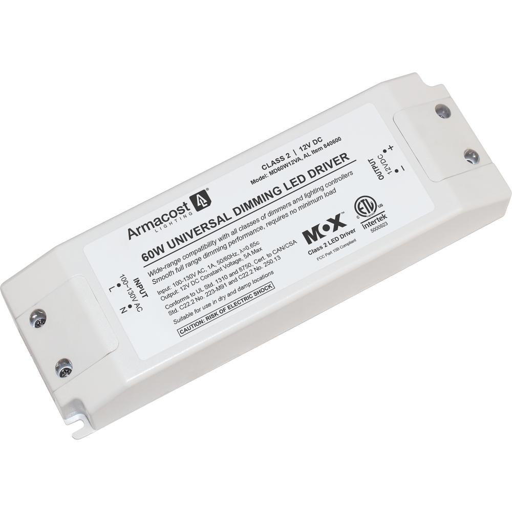 armacost lighting universal 60 watt dimming led driver 12 volt dc power supply for led tape. Black Bedroom Furniture Sets. Home Design Ideas