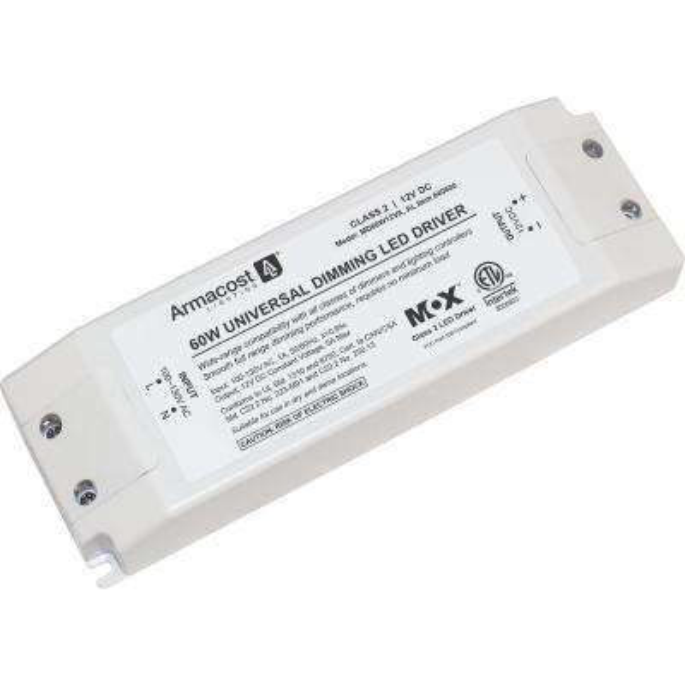 Universal 60-Watt Dimming LED Driver, 12-Volt DC Power Supply for LED Tape Light Strips and Other LED 12-Volt Lighting