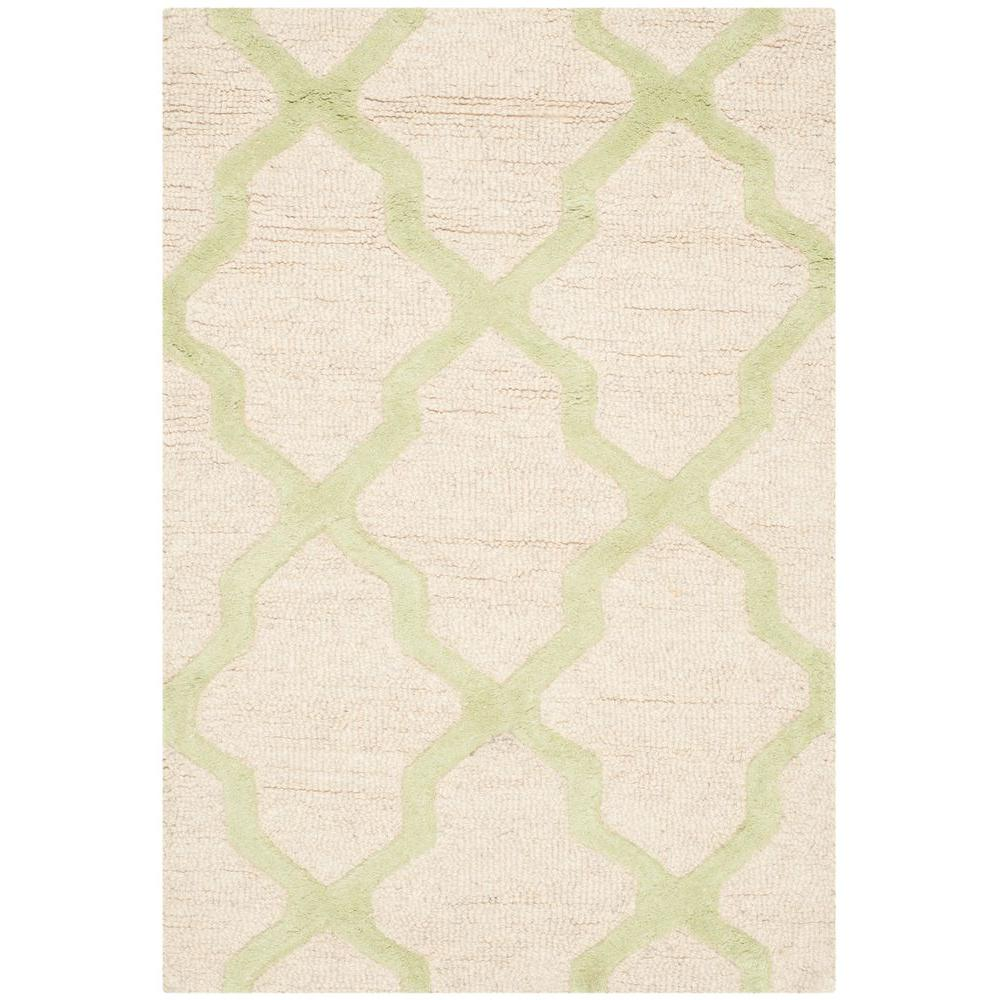 Cambridge Ivory/Light Green 2 ft. x 3 ft. Area Rug