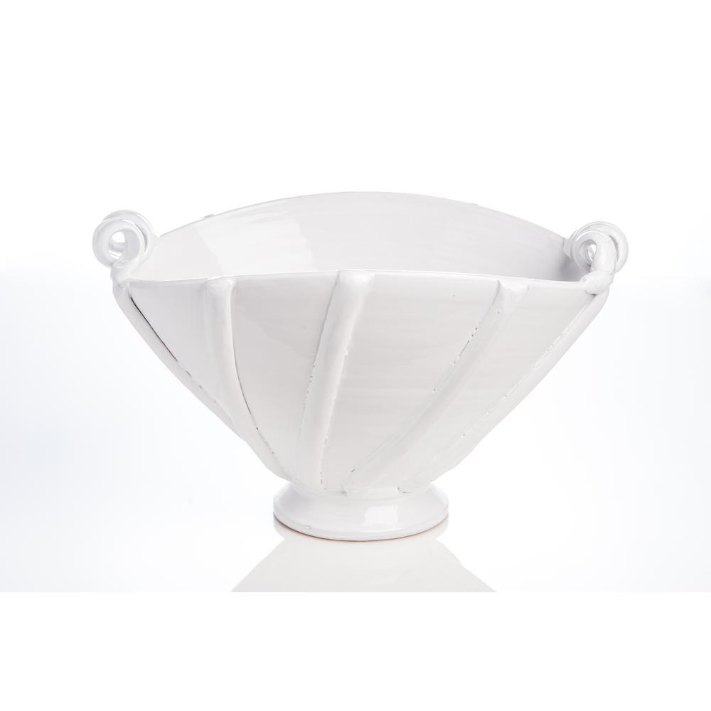 White Large Ribbon Centerpiece