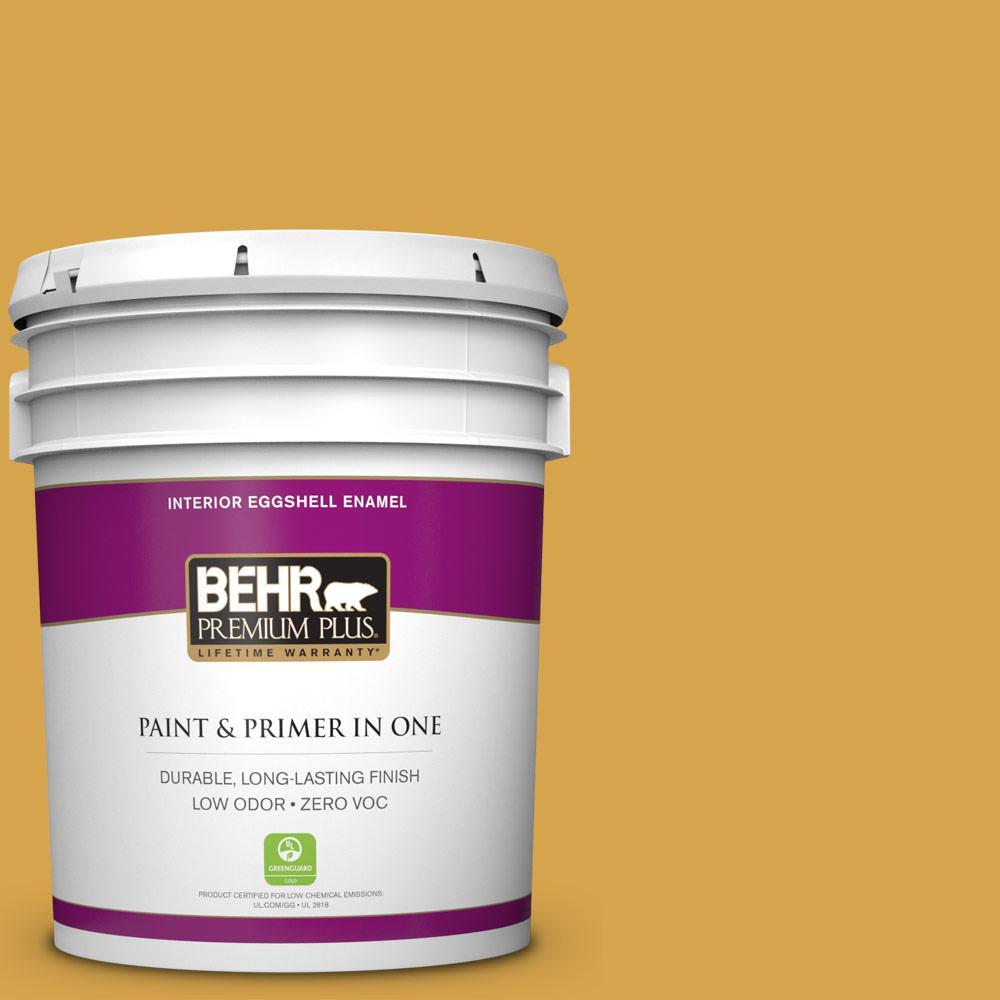 5 gal. #M290-6 Plantain Chips Zero VOC Eggshell Enamel Interior Paint