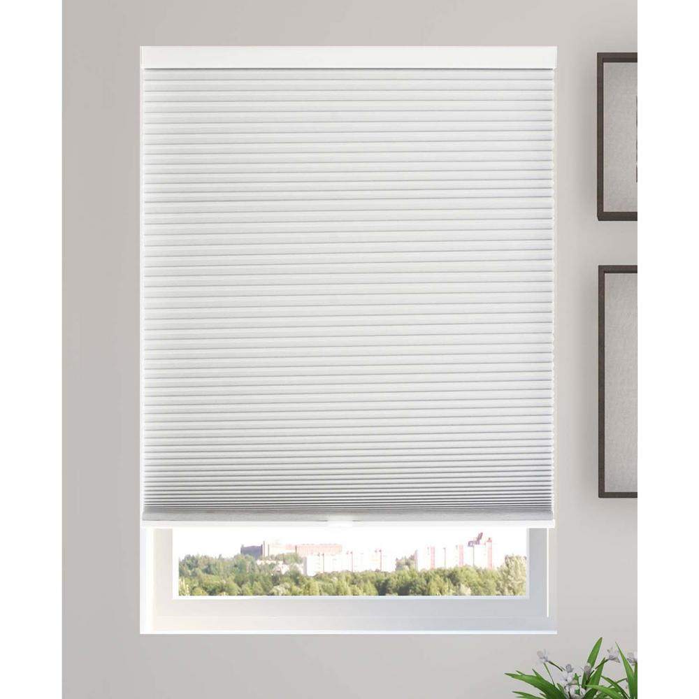 Chicology Cut-to-Width Evening Mist 9/16 in. Blackout Cordless Cellular Shade - 52.5 in. W x 64 in. L