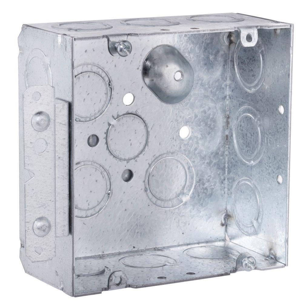 4-11/16 in. Square Welded Box, 2-1/8 in. Deep with 1/2 &