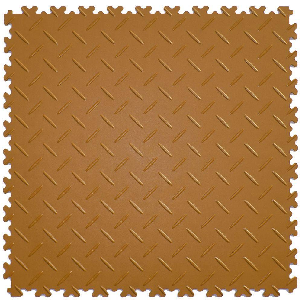 IT-tile Diamond Beige 20.5 in. x 20.5 in. Residential & Commercial Interlocking Multi-Purpose Floor, 8 Tiles