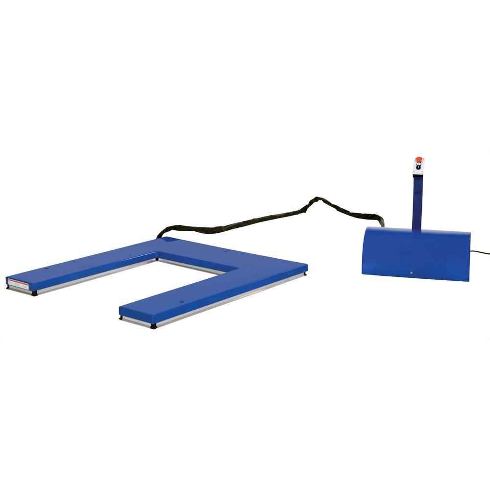 Vestil 2 000 Lb Capacity U Type Electric Lift Table Ehu 2