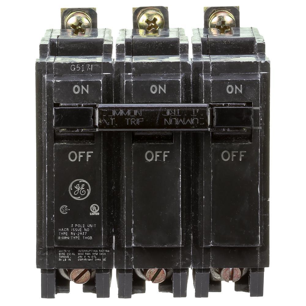 Ge General Electric 70 amp 240 volt 3 pole circuit breaker Catalog # THQB32070