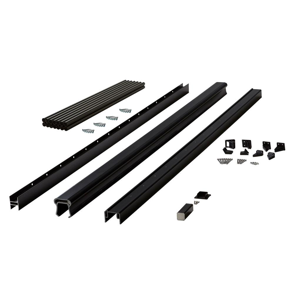 Symmetry 6 ft. Serene Black Capped Composite Line Rail Section with