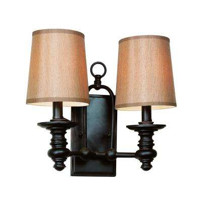 Henderson 2-Light Rubbed Oil Bronze Wall Sconce