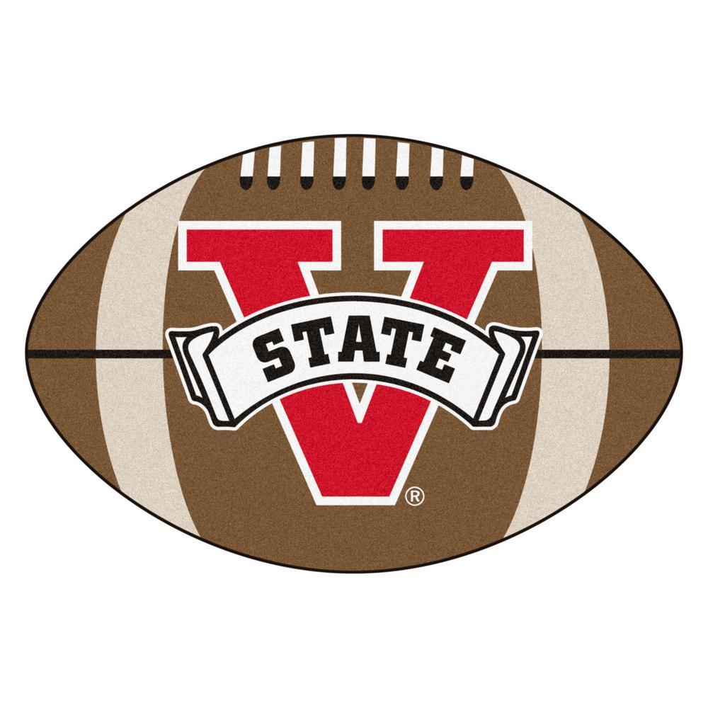 NCAA Valdosta State University 20.5 in. x 32.5 in. Football Mat Area Rug