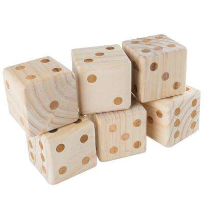 Giant Outdoor Wooden Yard Dice Set