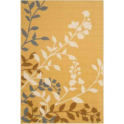 Hampton Camel/Ivory 7 ft. x 10 ft. Indoor/Outdoor Area Rug