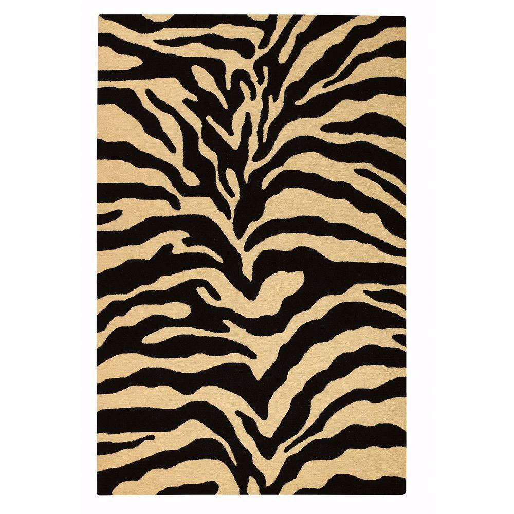 Home Decorators Collection Trek Gold/Black 7 ft. 9 in. x 9 ft. 9 in. Area Rug