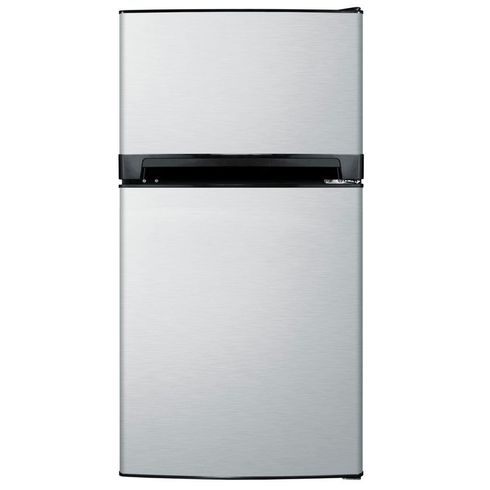 Summit Appliance 8.1 cu. ft. Top Freezer Refrigerator in Stainless Steel-DISCONTINUED