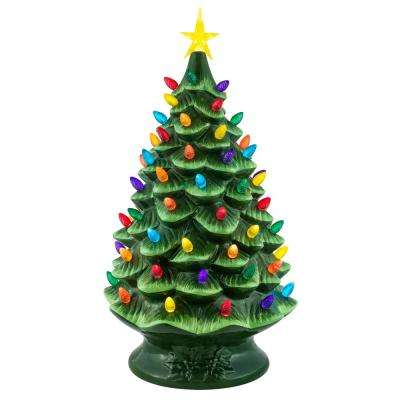 24 in. Nostalgic Christmas Tree in Green