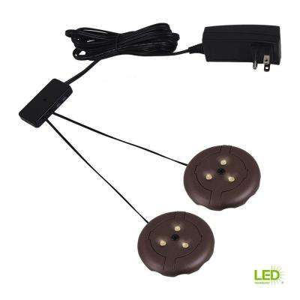 Ambiance LX LED Bronze Puck Light Kit
