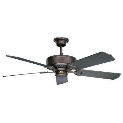 Madison 52 in. Oil Rubbed Bronze Ceiling Fan