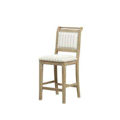Kendra 25 in. Grey Counter Stool