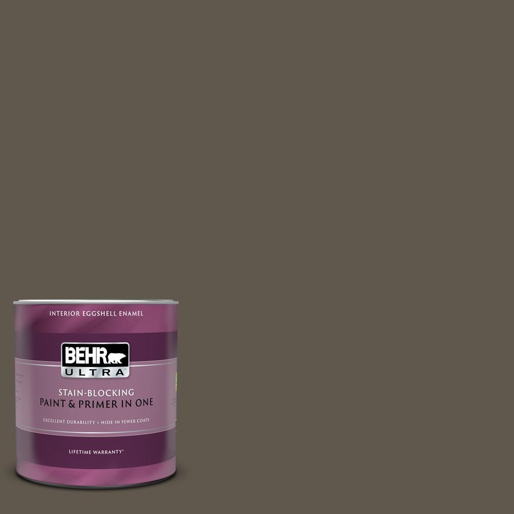 BEHR ULTRA 1 qt. #720D-7 Winter Oak Eggshell Enamel Interior Paint and Primer in One
