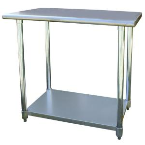Superb +5. Sportsman Stainless Steel Kitchen Utility Table