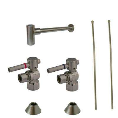 Brushed Nickel Pipe Amp Fittings Plumbing The Home Depot