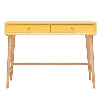 Wyatt Mid Century Yellow Writing Desk