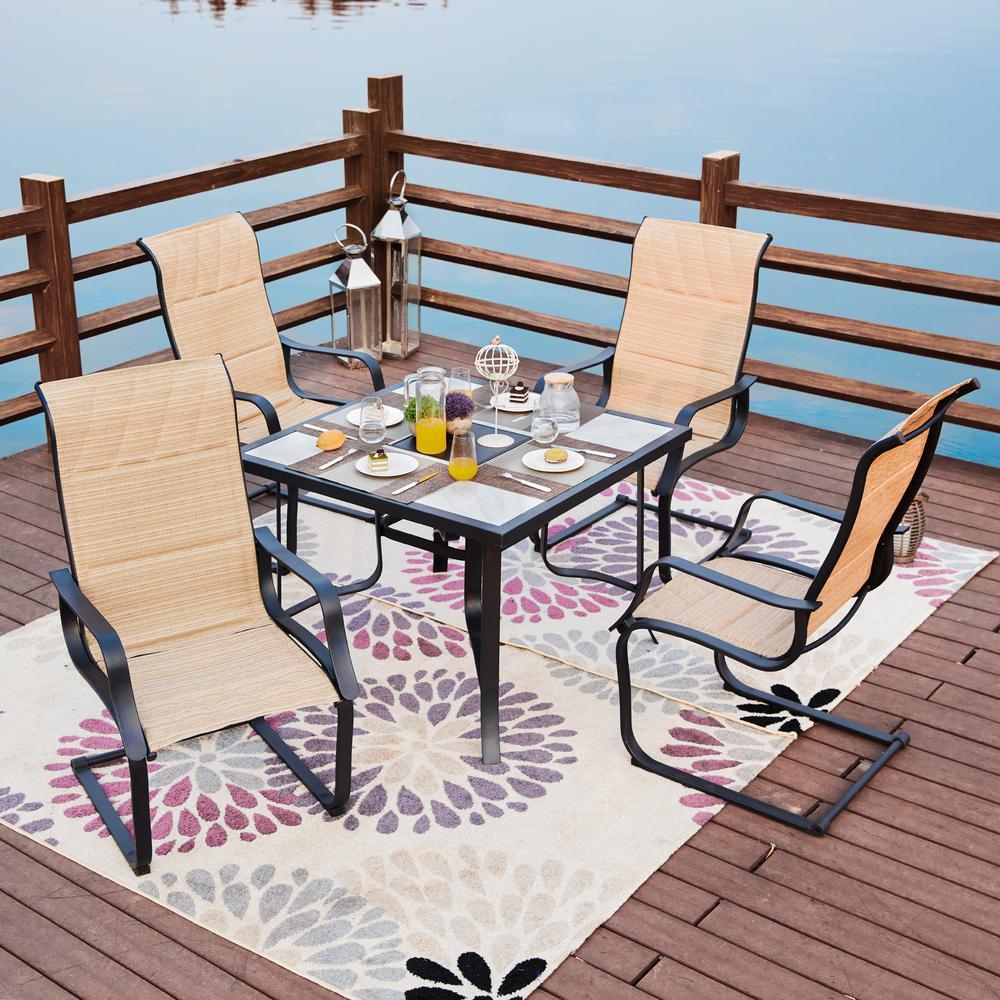 5-Piece Sling Outdoor Dining Set