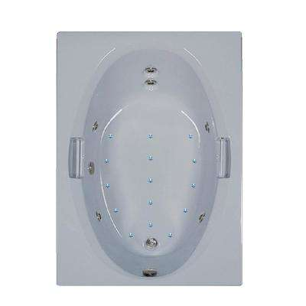 60 in. Acrylic Rectangular Drop-in Air and Whirlpool Bathtub in Bone