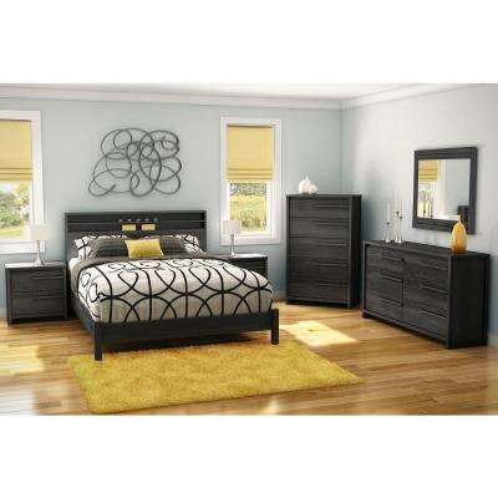 Tao 6-Drawer Gray Oak Dresser