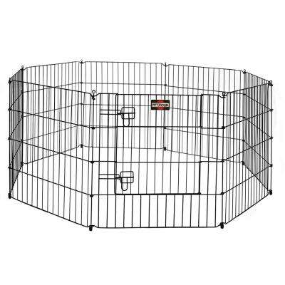 24 in. H Pet Exercise Pen with Dual Latch Door