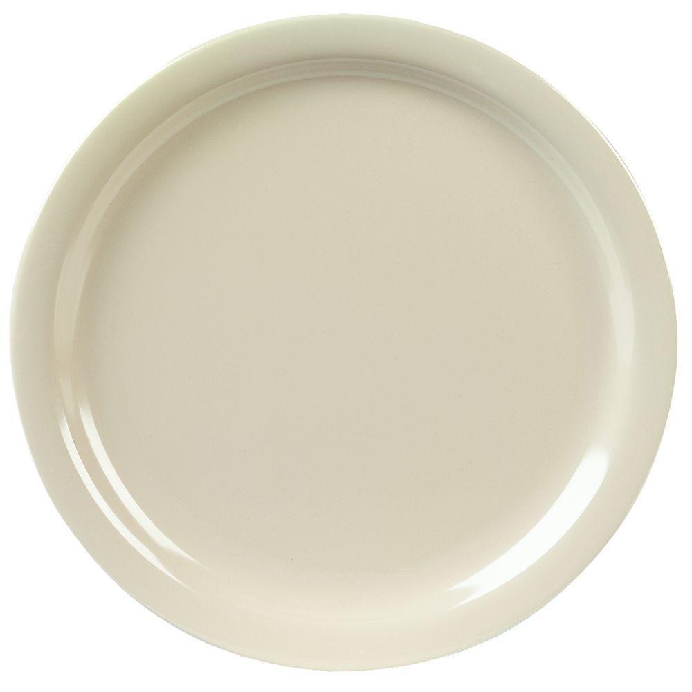 9 in. Diameter, 0.77 in. H Melamine Dinner Plate in Tan (Case of 48)