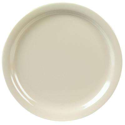 9 in. Diameter, 0.77 in. H Melamine Dinner Plate in Tan (Case of 48)