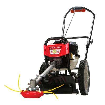 17 in. 43cc Gas Wheeled String Trimmer Mower