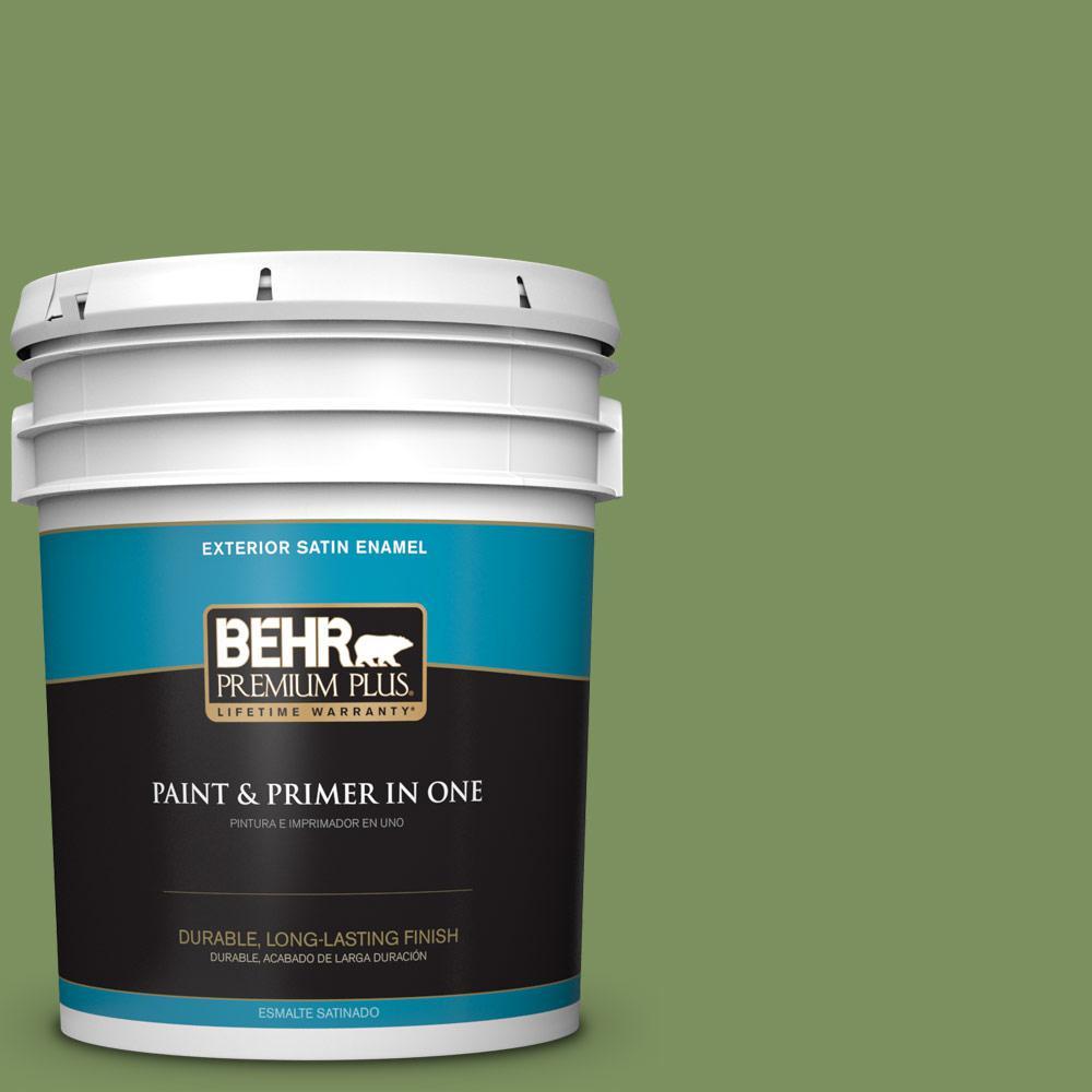 5 gal. #PPU10-03 Green Energy Satin Enamel Exterior Paint