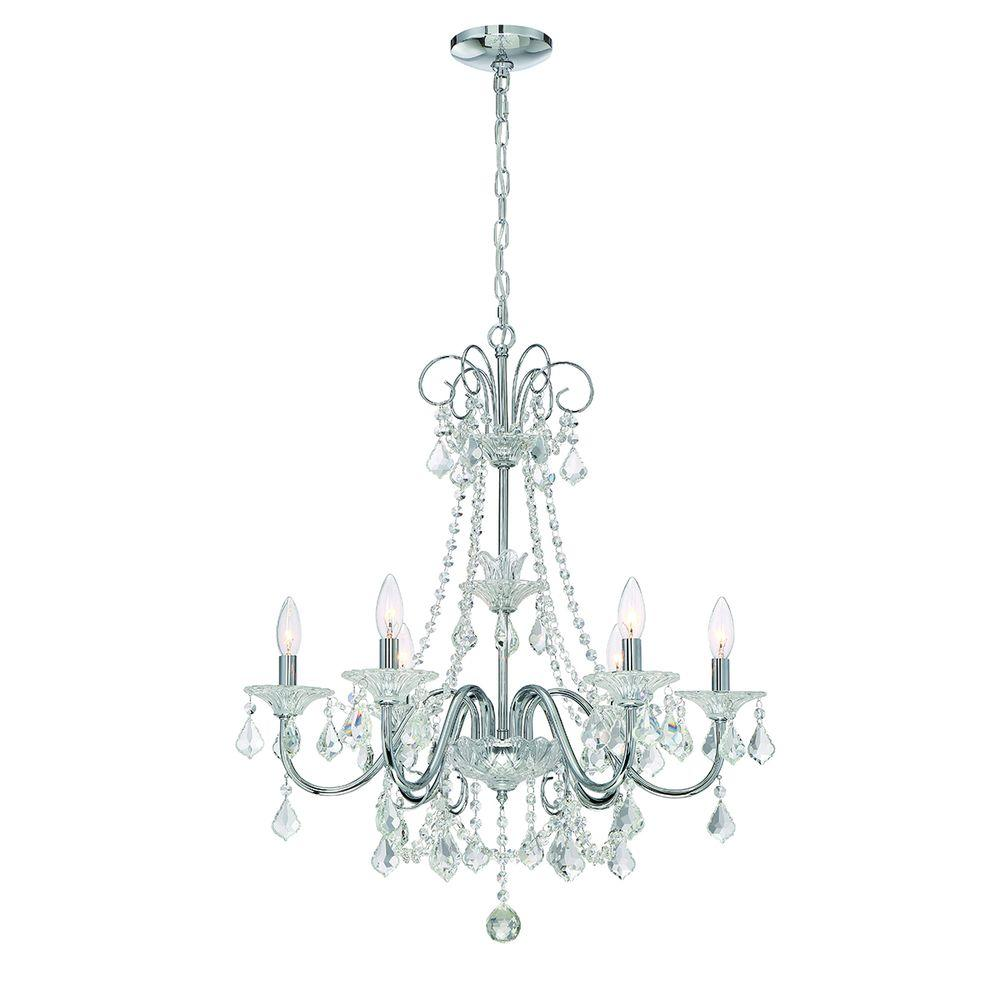 Home Decorators Collection 6-Light Chrome Crystal Chandelier