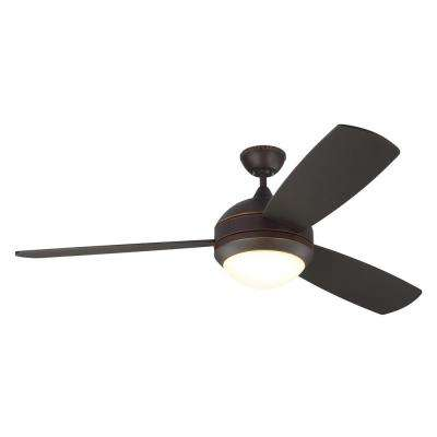 Discus Trio Max 58 in. Roman Bronze Ceiling Fan