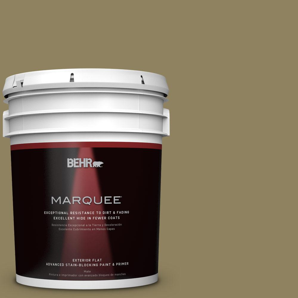 BEHR MARQUEE 5-gal. #PPU8-2 Gingko Tree Flat Exterior Paint
