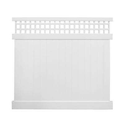 Scottsdale 7 ft. H x 8 ft. W White Vinyl Privacy Fence Panel Kit