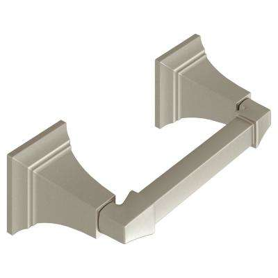 TS Series Double Post Toilet Paper Holder in Brushed Nickel