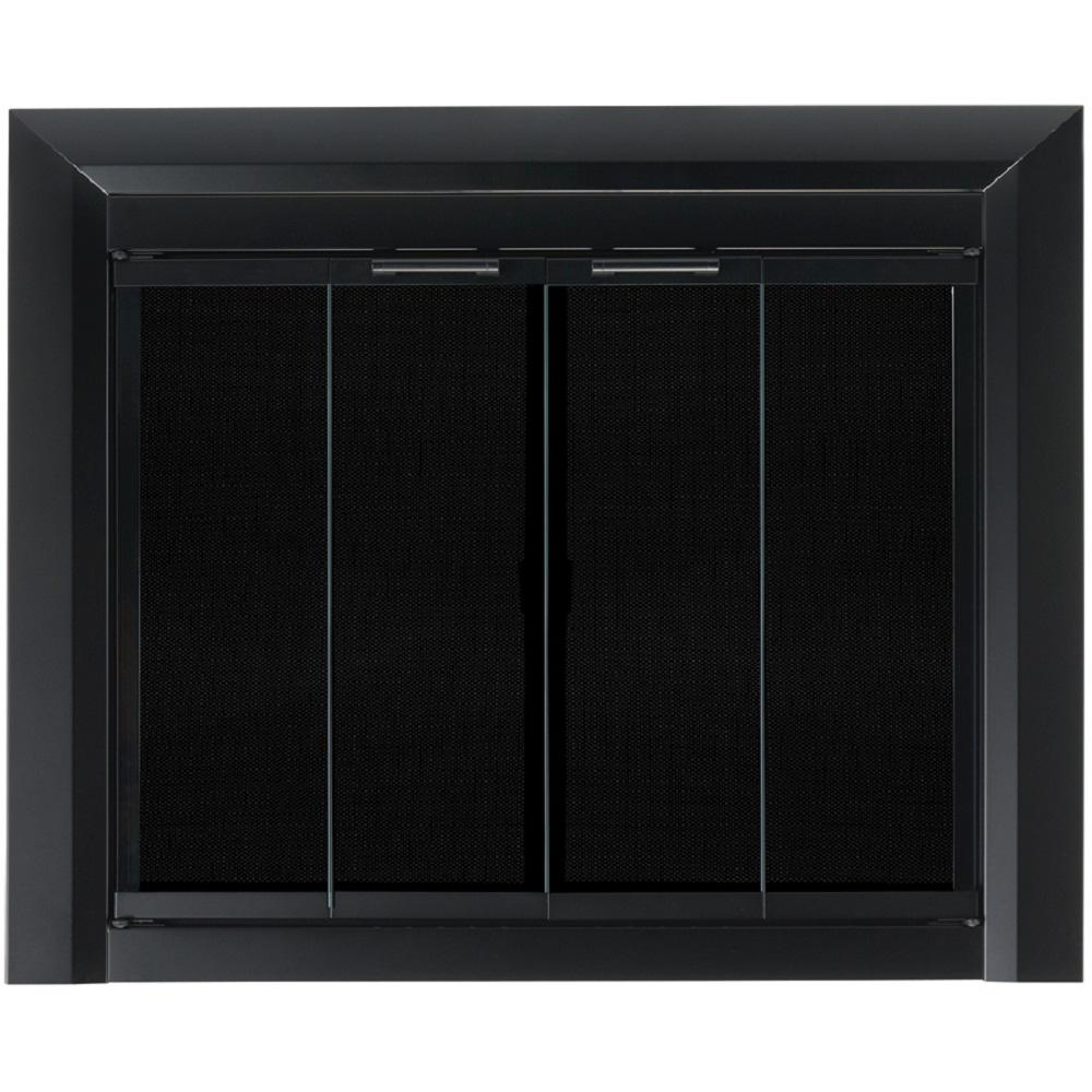 2733a70a49bfa Pleasant Hearth Clairmont Small Glass Fireplace Doors-CM-3010 - The ...