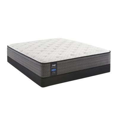 Response Performance 13 in. Queen Plush Faux Euro Top Mattress Set with 5 in. Low Profile Foundation