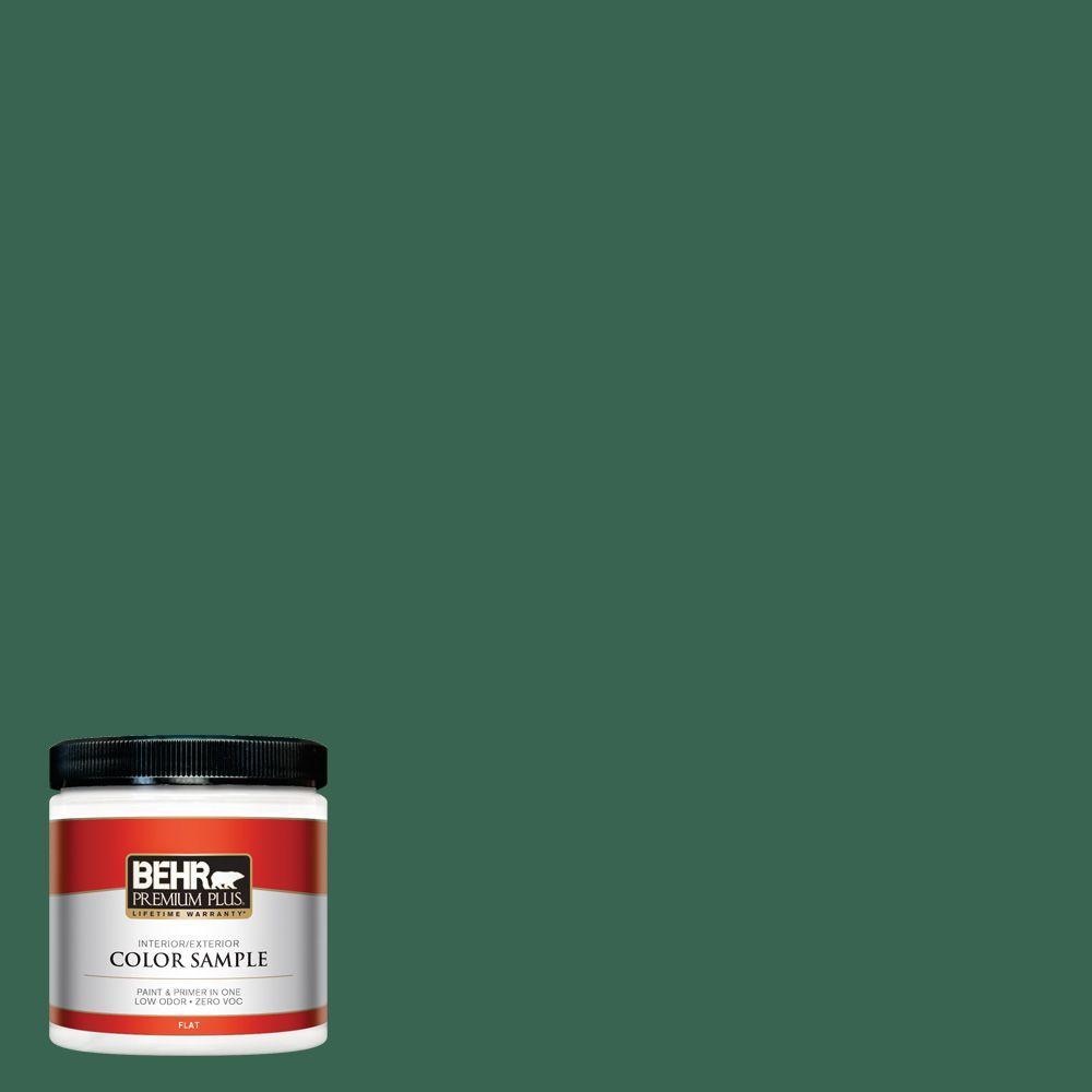 BEHR Premium Plus 8 oz. #480D-7 Isle Of Pines Interior/Exterior Paint Sample