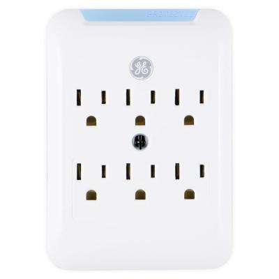 6-Outlet Pro Surge Protector Tap, White