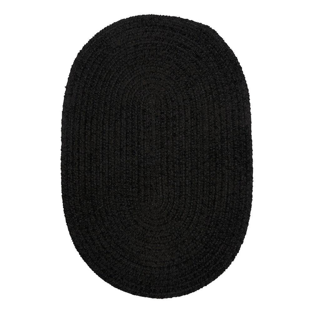 Home decorators collection dover chenille black velvet 3 for Home decorators chenille rug