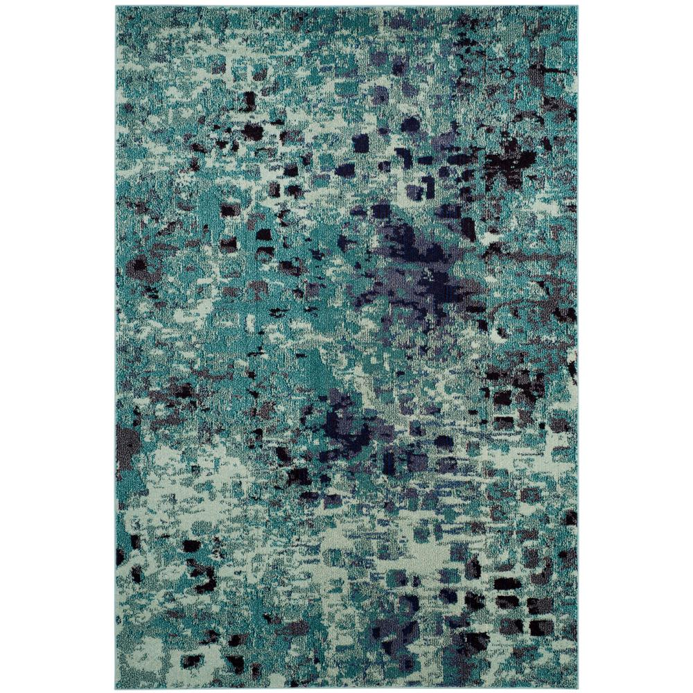 Teal 7 X 9 Area Rugs Rugs The Home Depot