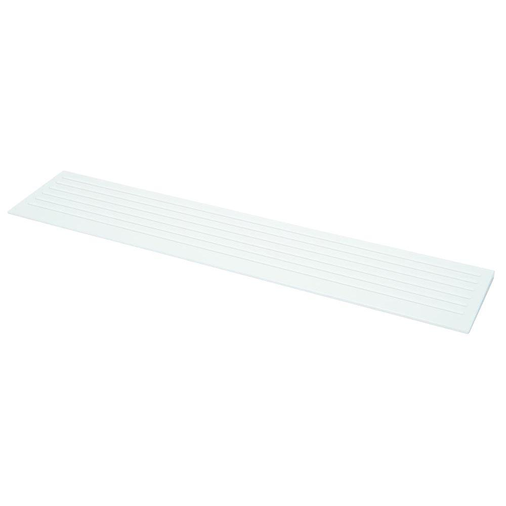 MUSTEE 12 in. x 60 in. Entry Ramp in White for 360L/R Barrier-Free Shower Floor