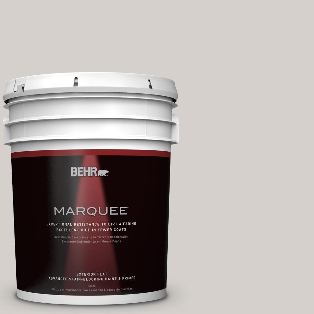 BEHR MARQUEE 5-gal. #N140-1 White City Flat Exterior Paint