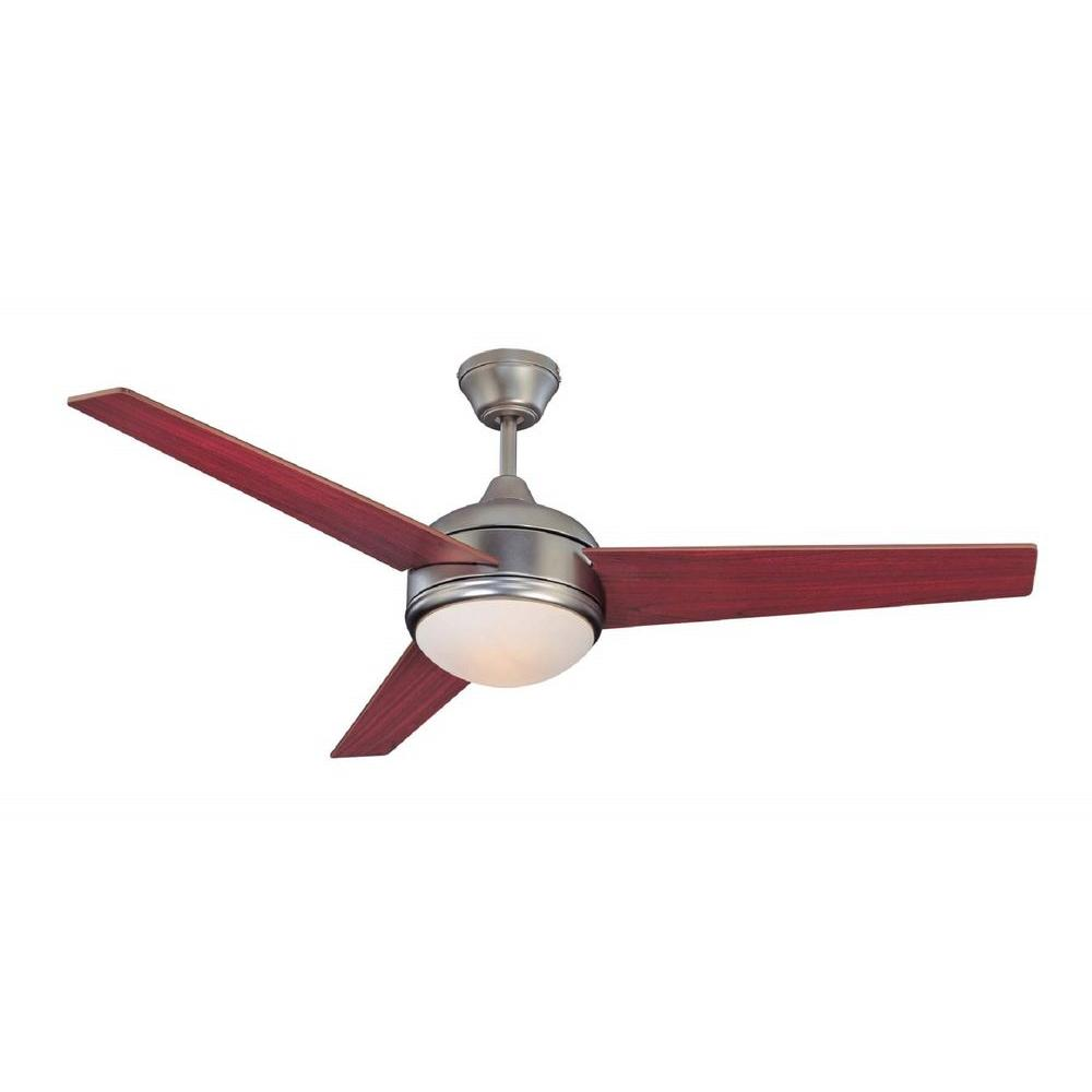 Exceptional Satin Nickel Ceiling Fan With 3 Blade