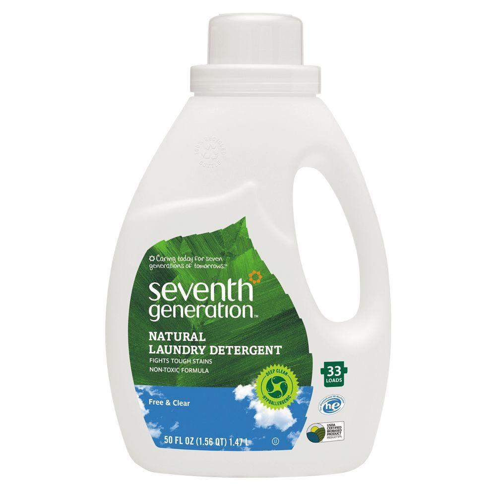 50 oz. Free and Clear Scent Natural 2X Concentrate Laundry Detergent